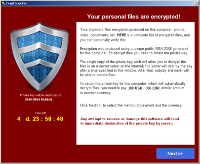 CryptoLocker Virus